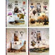 """Зошит офісний, 60 аркушів, клітинка, 20х25,5 см - """"Поштові листівки"""" №68"""