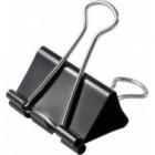 Биндер (зажим для бумаги, 40 мм, 1 шт., черный)