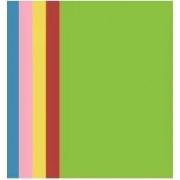 Картон кольоровий двосторонній Sinar spectra premium А4, 5 кольорів (червоний, жовтий насичений, жовтий ненасичений, зелений, синій), 10 арк., 160 г/м²