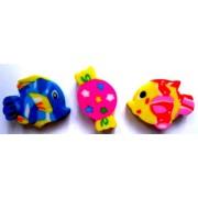 Гумка різнокольорова (цукерка, рибка), асорті Гум-ЦР