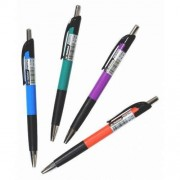 Ручка кулькова автоматична з чорнилом синього кольору - NORMA ARIZONA-338 (1 шт., колір корпусу в асортименті)