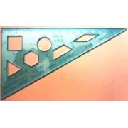 """Трикутник 160 мм (кути 30х60х90, прозорий) - """"Спектр"""" У-160Г"""