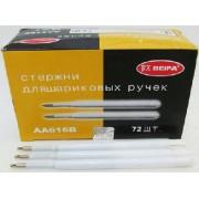 Стержень кульковий BEIFA АА616В для автоматичних ручок, об'ємний, пластиковий, синій