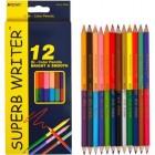 "Олівці кольорові ""Superb Writer"" двобічні, 12 штук 24 кольора - Marco"