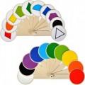 Віяло кольорів та геометричних фігур ( 10 кольорів, 10 фігур) - IRBIS В-1