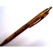 Ручка кулькова автоматична з чорнилом синього кольору - ЗОЛОТО (1 шт.)