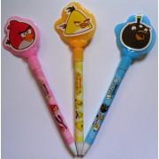 """Ручка шариковая автоматическая МР-8001 """"ANGRY BIRDS"""" (стержень синего цвета)"""