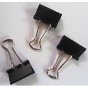 Биндер (зажим для бумаги) 4Office 4-326 (15 мм, 1 шт., черный)