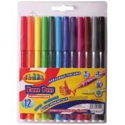 """Фломастери 12 кольорів, """"Легке змивання"""", діам.- 9 мм., 2712, PREMIUM, CLASS"""