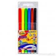 """Фломастери 6 кольорів, """"Легке змивання"""", діам.- 9 мм., 2706, PREMIUM, CLASS"""