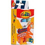 Крейда кольорова Jumbo, 3 кольори, кругла, 23х107, 7606, CLASS