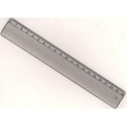 Лінійка пластикова 20 см прозора Л-200п
