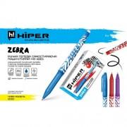 """Ручка гелева самостираюча """"пиши- стирай"""" Hiper Zebra, 0,5 мм (СИНЯ), HG-220"""