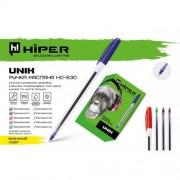 Ручка масляна Hiper Unik, 0.7 мм (СИНЯ), HO-530 (1шт)
