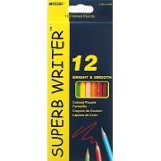 """Олівці художні кольорові """"Superb Writer"""", 12 кольорів, 4100-12CB, Marco"""