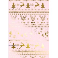 "Упаковочная бумага с пантоном (100х70 см) Эд-УБ-211-П ""Новогодняя"" 5 шт."