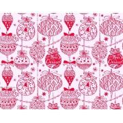 """Упаковочная бумага новогодняя (100х70 см) Эд-УБ-213 """"Красные игрушки"""" 5 шт."""