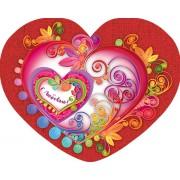 Валентинка одинарна з накладним елементом (текст російською мовою) - НС-301