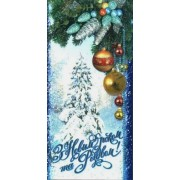 """Листівка євроформат """"З Новим Роком та Різдвом!"""" - Фоліо Плюс Ф-ЕФ-1568 (без тексту)"""