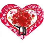 Листівка-валентинка (15х12 см, укр.) - Этюд МС-285у
