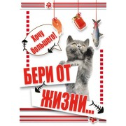 """Открытка """"Бери от жизни..."""" - Этюд К-918"""