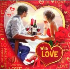 """Міні-листівка """"With LOVE!"""" - МИНО-15-56 (укр., 8,2х8,2 см)"""