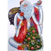 """Плакат новогодний двухсторонний (48 см) """"Дед Мороз, ёлка"""" ПД-05"""