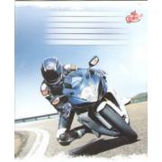 """Зошит """"Бриск"""", 18 аркушів, А5, клітинка, ТВ-108 (Автомобілі, мотоцикли) №24"""
