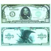 Денежная купюра сувенирная 1000 Долларов (1 уп. = 80 шт.) - №20