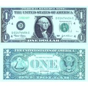 Денежная купюра сувенирная 1 Доллар (1 уп. = 80 шт.) - №12