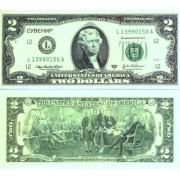 Денежная купюра сувенирная 2 Доллара (1 уп. = 80 шт.) - №13