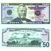 Денежная купюра сувенирная 50 Долларов (1 уп. = 80 шт.) - №17