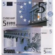 Денежная купюра сувенирная 5 Евро (1 уп. = 80 шт.) - №25