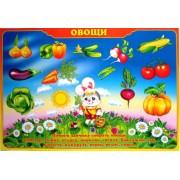 """Плакат А-2 (картон) """"Овощи"""" ЭУ-П-35"""