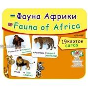 """Картки """"Фауна Африки"""" (19 карток), Эдельвейс ON-015У"""