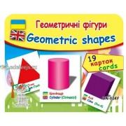 """Картки """"Геометричні фігури"""" (19 карток), Эдельвейс ON-024У"""