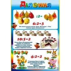 "Плакат А2 (картон) ""Ділення"" - Эдельвейс 29-00-58У"