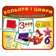 """Картки """"Кольори і цифри"""" (19 карток), Эдельвейс ON-07У"""