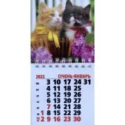 Календар магнітний на 2022 рік на спіралі (Два коти) - MNA-21