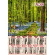 Календар-плакат, А2, на 2022 рік (Ліс) - А2-03