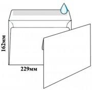 Конверт почтовый С5 (162х229 мм), мокроклеющийся, белый, 75 г/м2