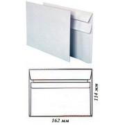Конверт почтовый С6 (114х162 мм), с самоклеющимся клапаном, белый, 75 г/м2