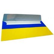 Конверт почтовый DL (110х220 мм), самоклеющийся с отрывной лентой, желто-синий, 80 г/м2