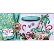 """Конверт для грошей """"В День Весілля!"""" з декоративними вставками - Этюд Трп-086у"""