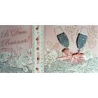 """Конверт для грошей """"В День Весілля!"""" з декоративними вставками - Этюд Трп-139у"""