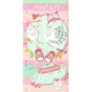 """Конверт для грошей """"З народженням дівчинки"""" -  KNV-00264"""