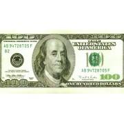 """Конверт для грошей """"100 доларів"""" -  KNV-00374"""