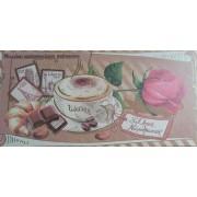 """Конверт для плитки шоколаду К(А)-015У, крафтовий картон, 217х115 мм, ТОВ """"ТБВ """"Едельвейс"""""""