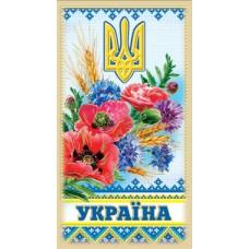 """Магніт тонкий """"Україна"""" (маки) - Фоліо ФМ-028"""