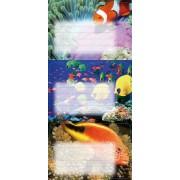 Наклейки на тетради 024 Рыбки